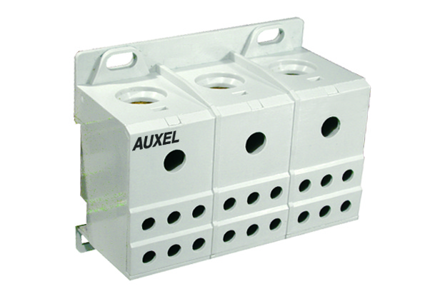 ALTECH 38075 Power Dist. Blk; 115A; 600V; White; UL1059Series; 3x1 Input; 3x6 Output; 3 Phase