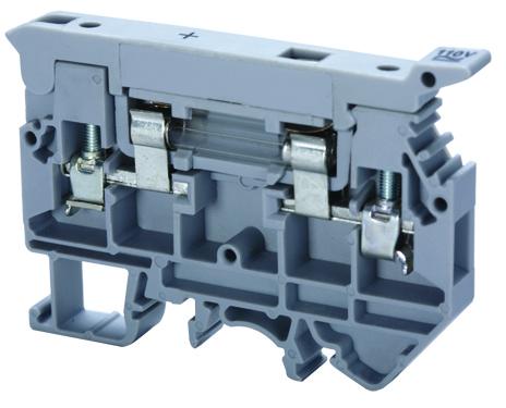 ALTECH CAFL4U(N) Fuse Terminal w/neon indicator 16A, 600V,22-10,9mm Gray