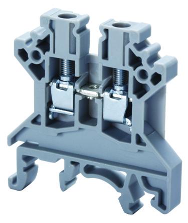 ALTECH CTS4U-N TERMINAL BLOCK 35A,600V 22-10AWG, 6MM, GRAY