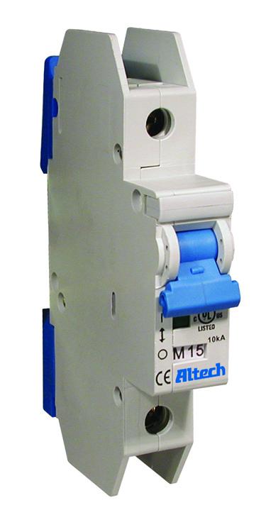 1CU1L - ALTECH - UL 489 AC C-Trip One Pole Miniature Molded Case Circuit Breaker, 1.0A, 277VAC