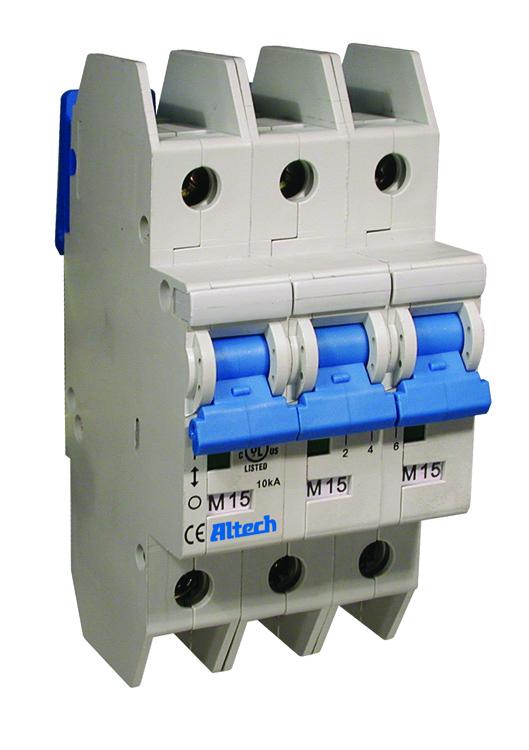 3CU15L - ALTECH - UL 489 AC C-Trip Three Pole Miniature Molded Case Circuit Breaker, 15A, 480Y/277VAC