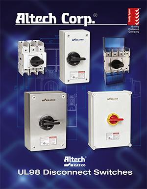 MF10 Enclosure Size KEM3125L Switch 125AMP Altech Corp Motor Disconnect Enclosed