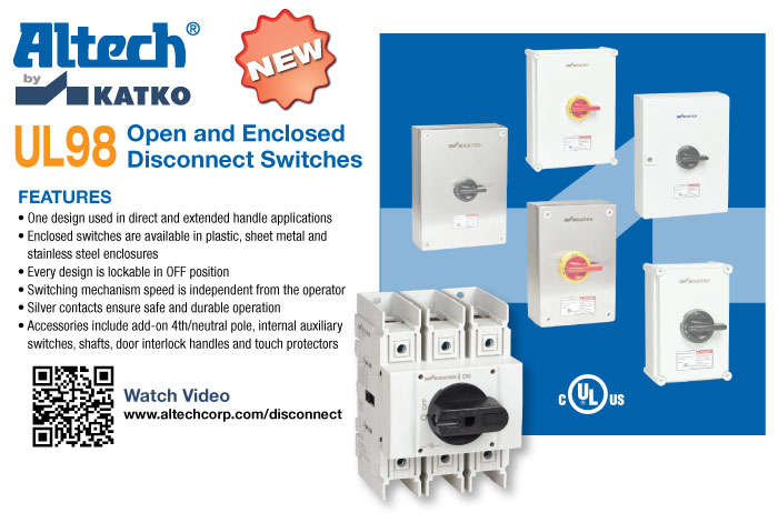 Altech Motor Disconnect Switches on