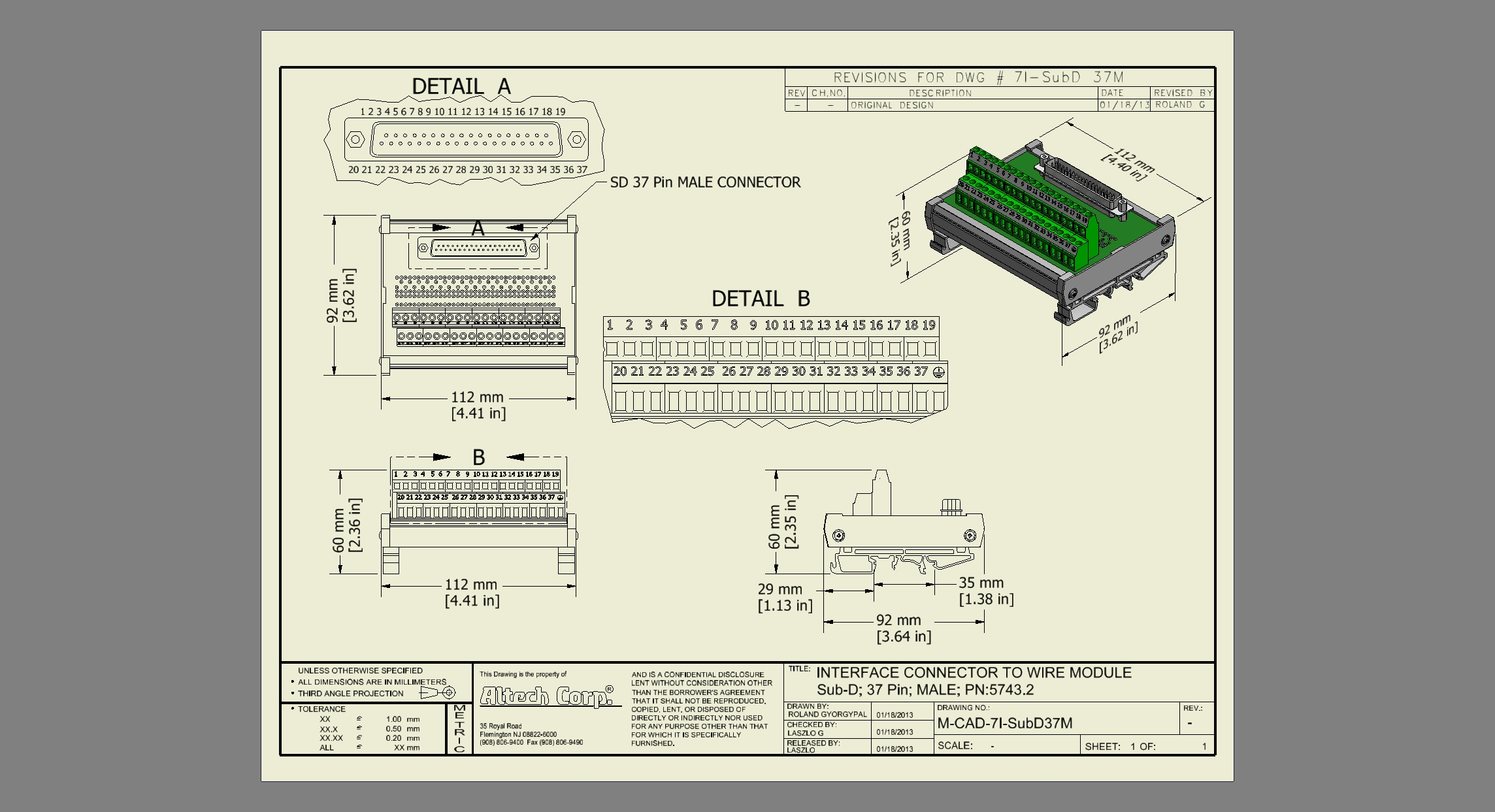 Custom Din Assemblies Assembly For Industrial Control One Stop Printed Circuit Board 37 Sub D Male