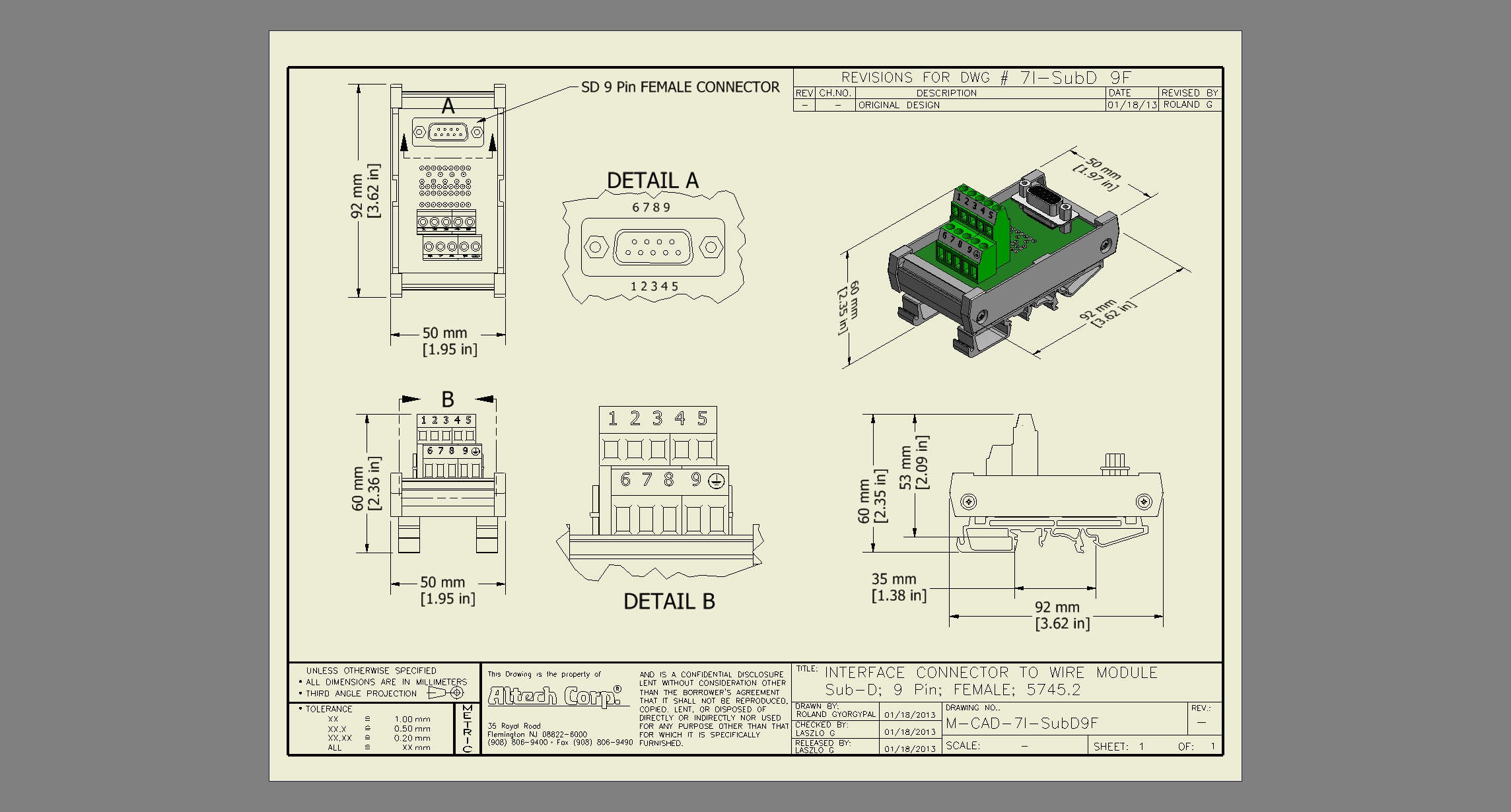 Custom Din Assemblies Wiring Diagram Plc Dc Inputs To Ac Outputs Sub D 9 Femaledwg
